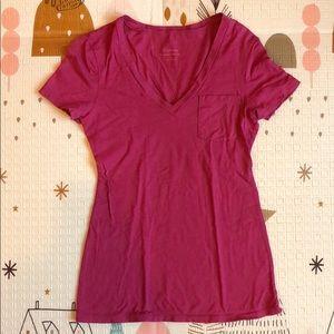 Express Women's Pink Feather Weight Tee